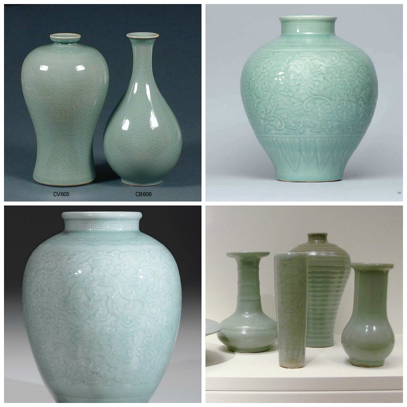 Antique Celadon Vases