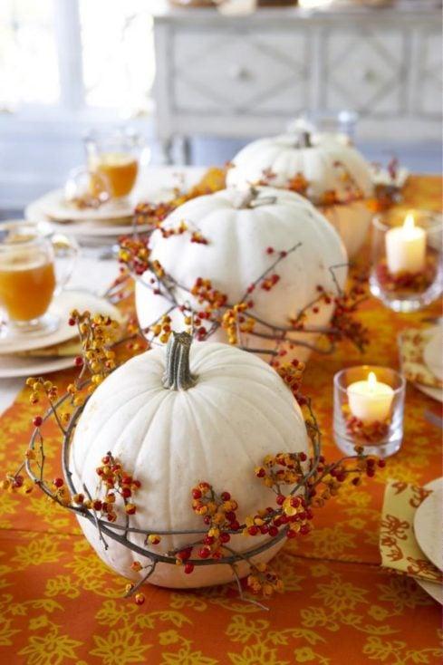 Bittersweet Garland Pumpkins