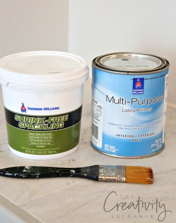 Faux cement paint technique and recipe. Looks just like cement when it dries.