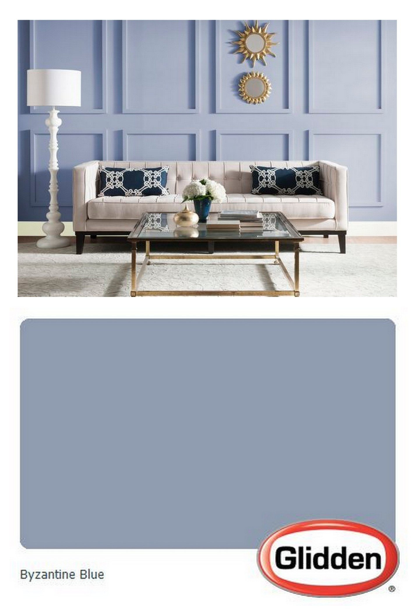 Glidden's 2017 Color of the Year is Byzantine Blue