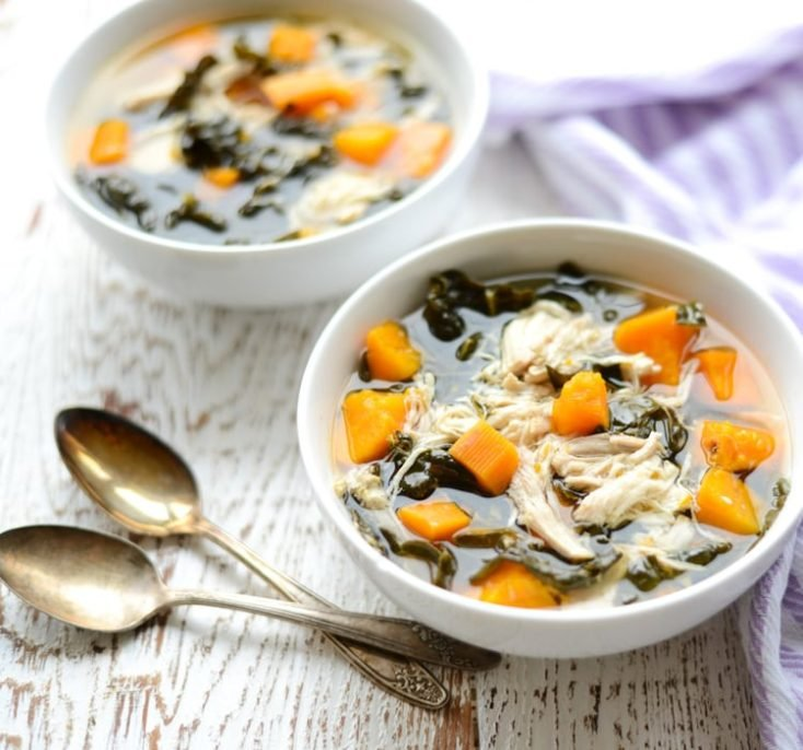 Slow Cooker Chicken, Kale, and Sweet Potato Stew