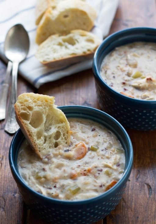 Slow Cooker Creamy Chicken Wild Rice Soup