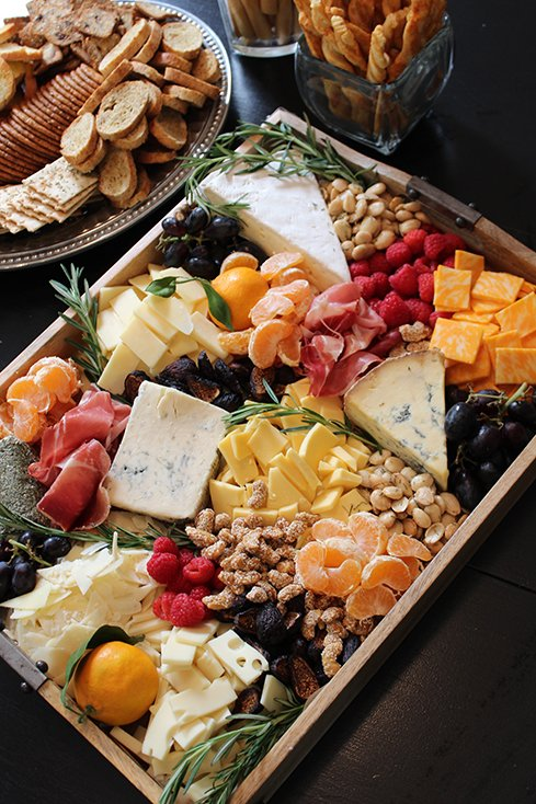 Fall Cheese and Fruit Tray