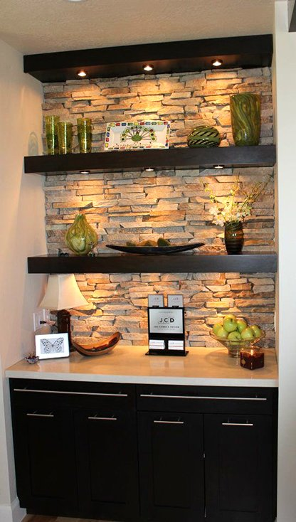 Delightful Floating Shelf Bar