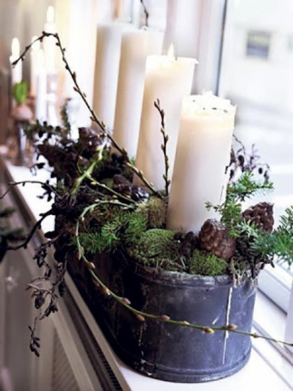 Greenery and Candles