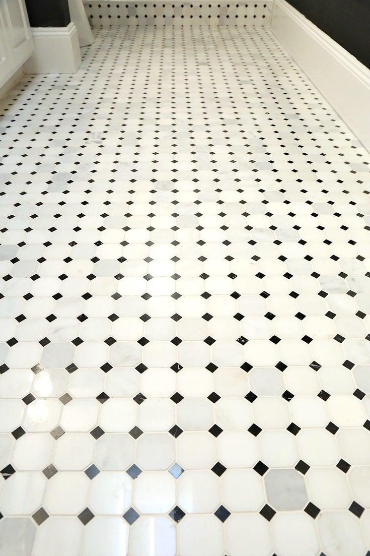 Marble Hexagon Mosaic Tile from Arizona Tile.