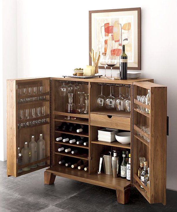 A Gorgeous Kitchen That Looks Like It Came Out Of An Ikea: 25 Creative Built-In Bars And Bar Carts