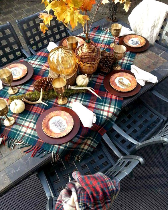 Creative thanksgiving tables and eats Fall decorating ideas for dinner party