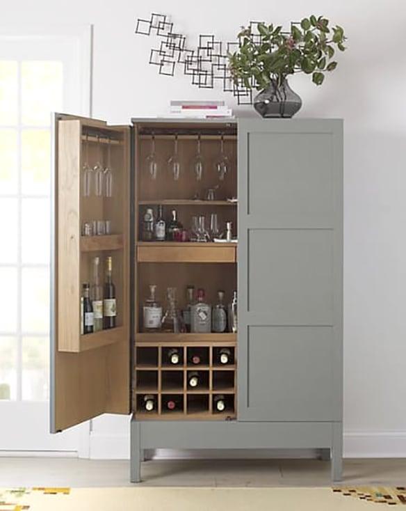 Victuals Grey Bar Cabinet