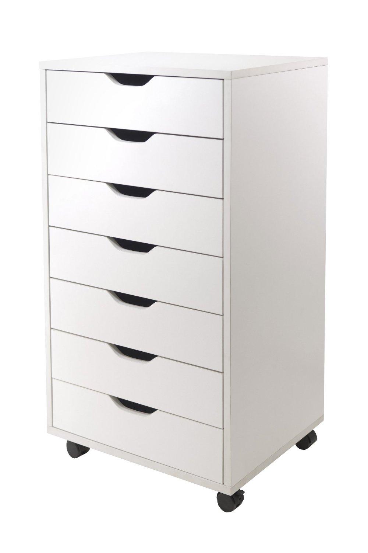 7 drawer storage cart.