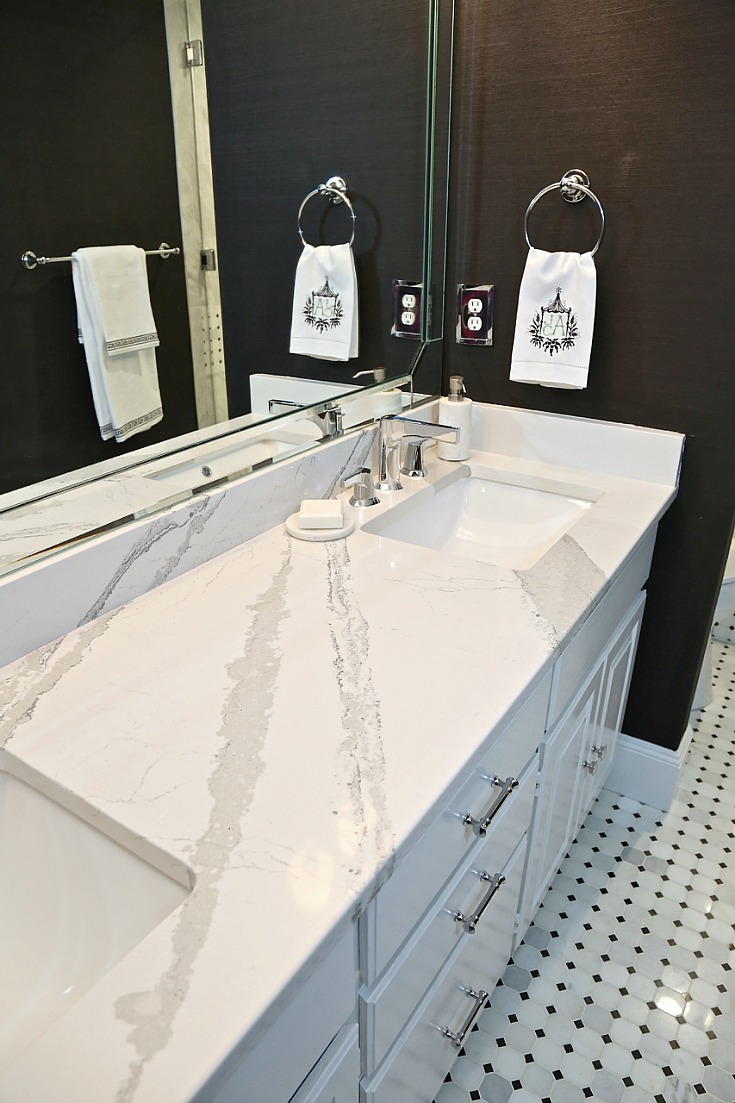 Cambria Quartz Countertop and Zura Faucet from Delta Faucet