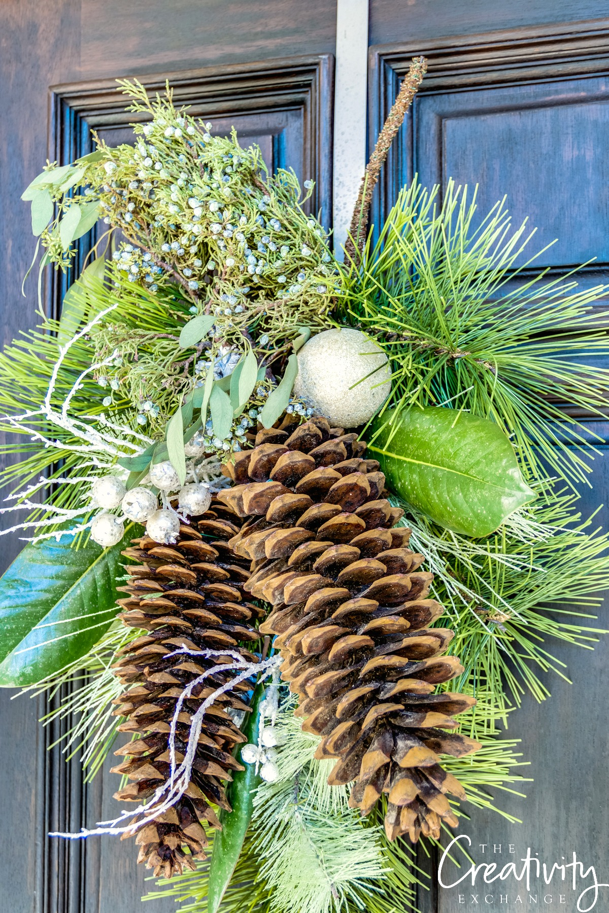 My christmas home tour 2016 for Large pine cones