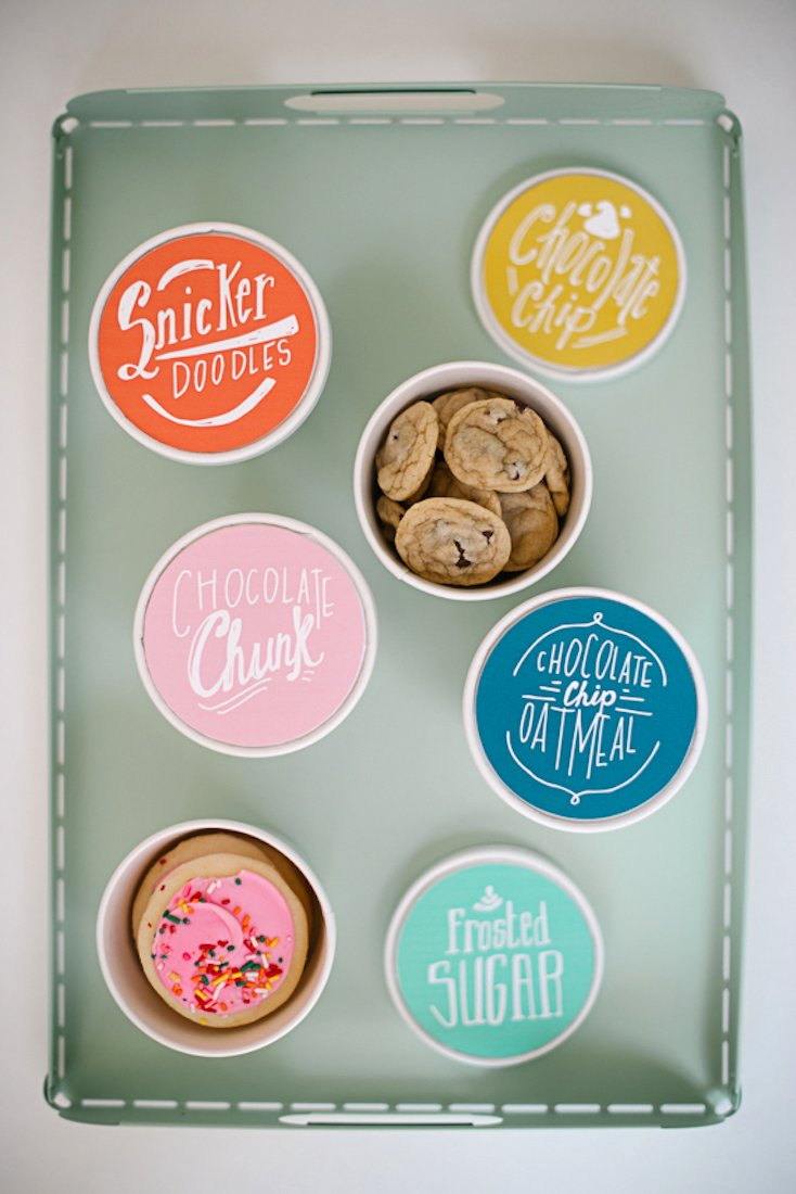 Cookie Tubs with Printable Labels