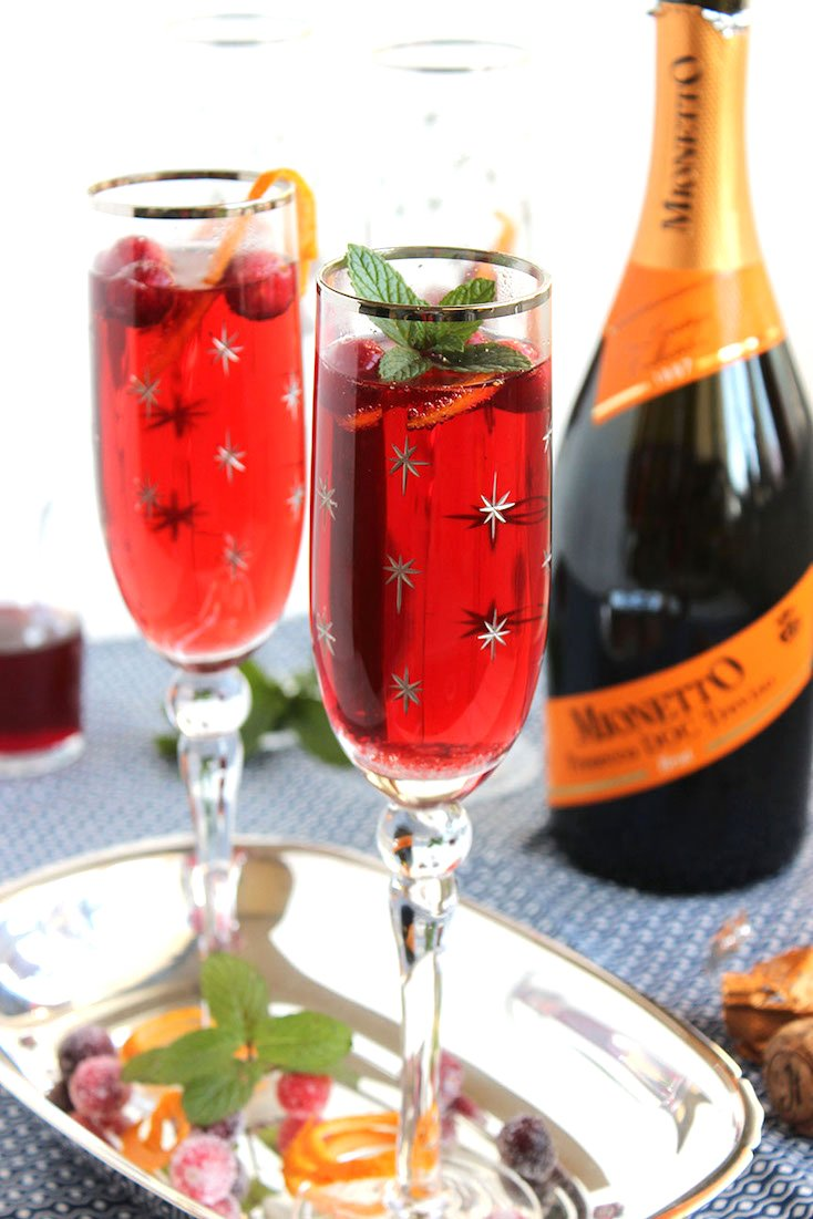 Cranberry Pomegranate Bellini