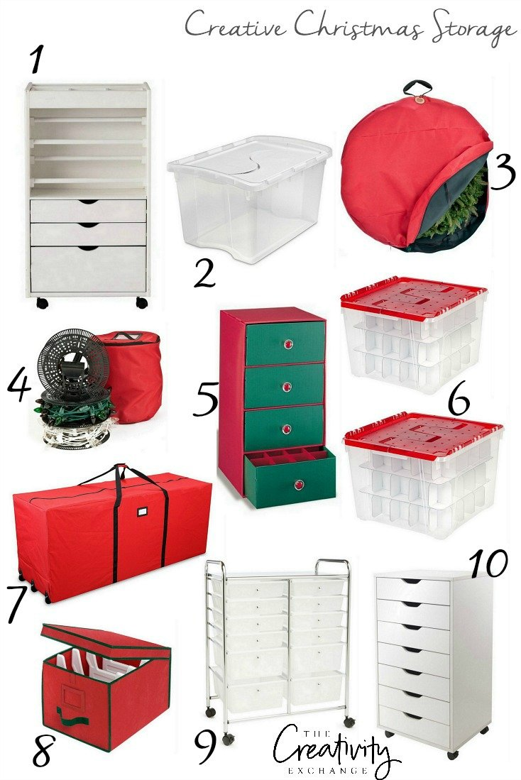 Creative Christmas Storage Ideas and Products.