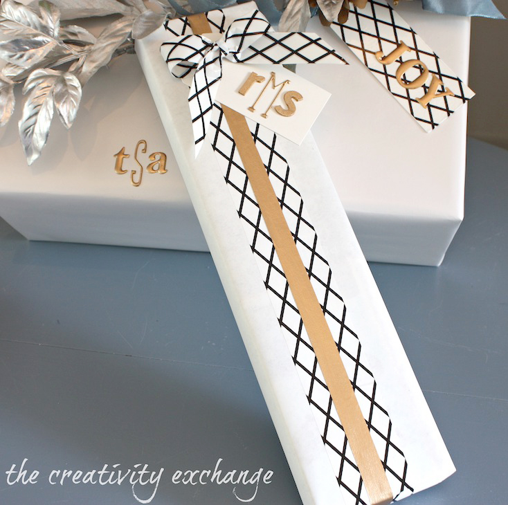 Decorative Tape Gift Wrap
