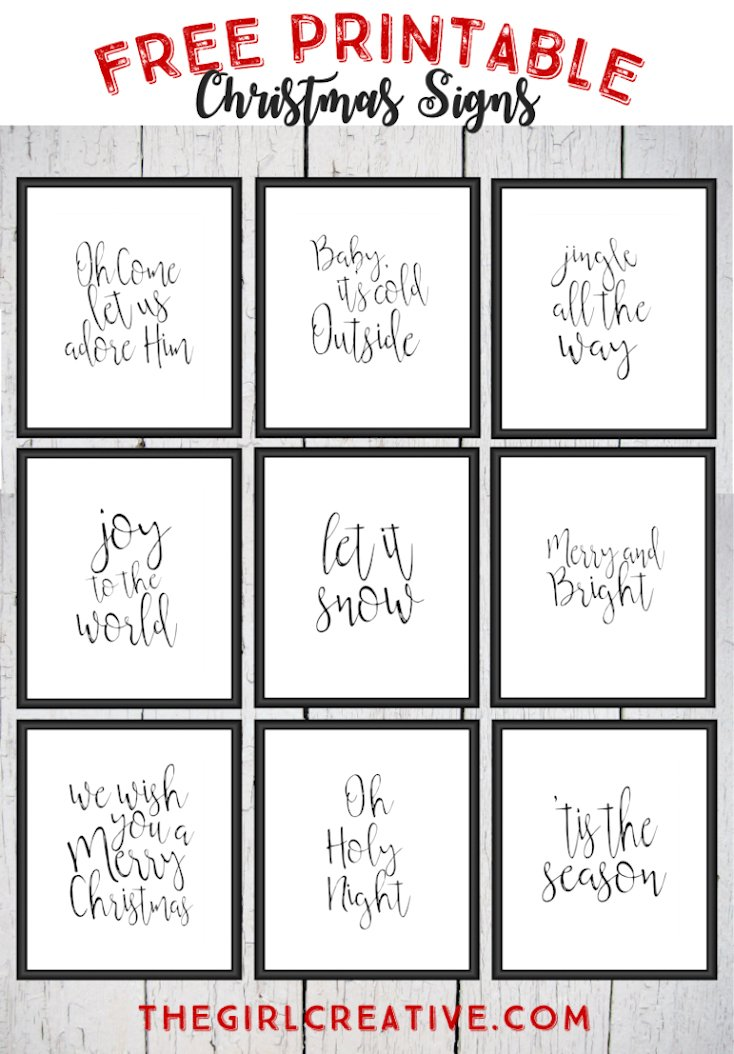 Free Printable Christmas Signs