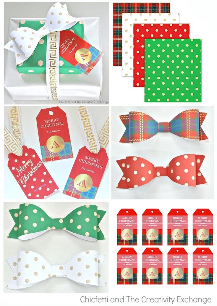 creative gift wrap ideas and christmas printables With free printable customizable gift tags
