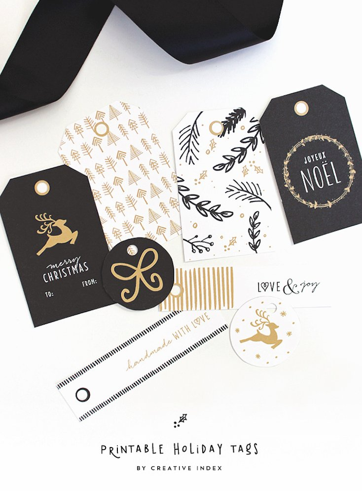 Free Printable Holiday Gift Tags