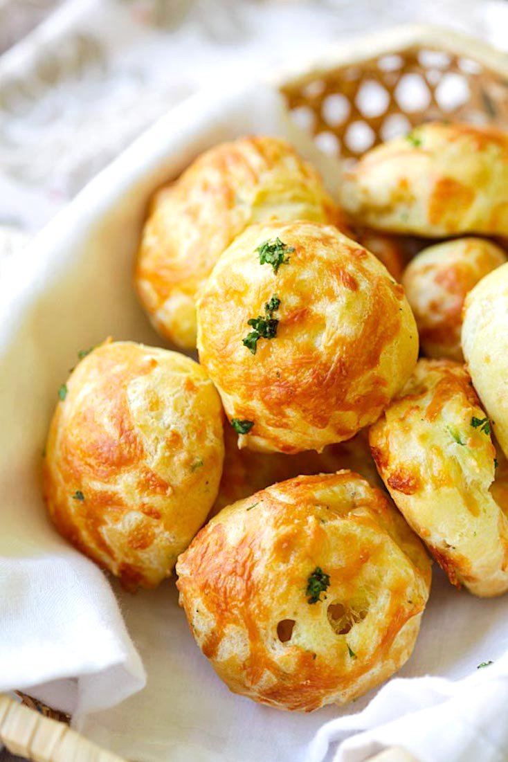 Gougeres (French Cheese Puffs) Recipe — Dishmaps