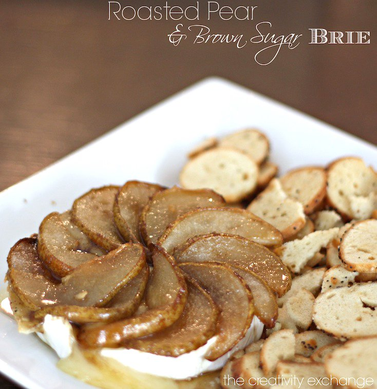 Roasted Pear and Brown Sugar Brie