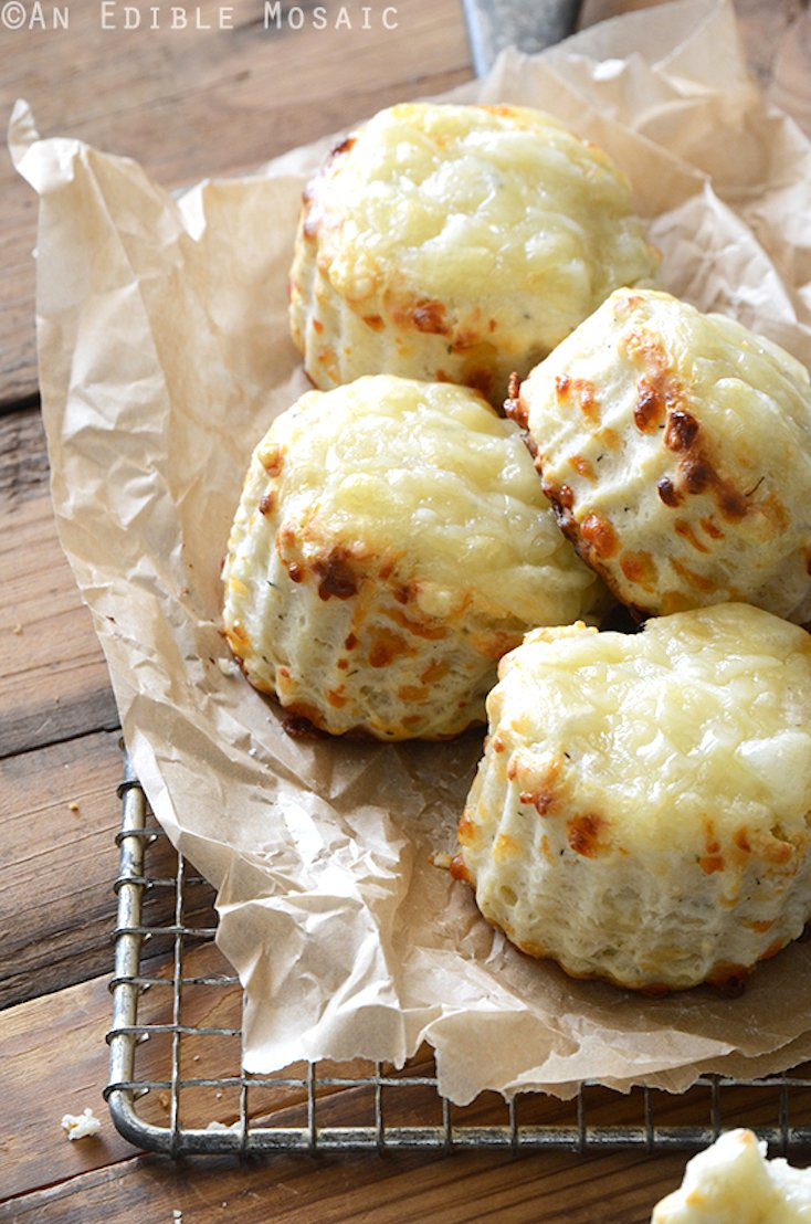 Savory Thyme and Swiss Cheese Scones