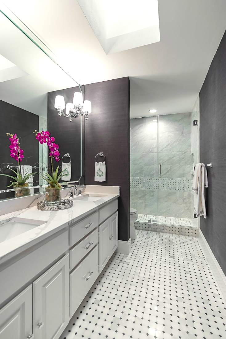 small bathroom remodel project before and after - Guest Bathroom Remodel
