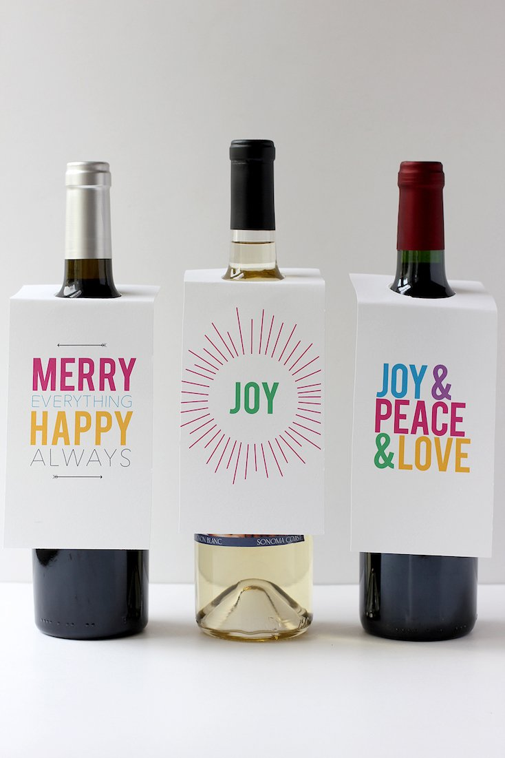 Wine Gift Tag Printables