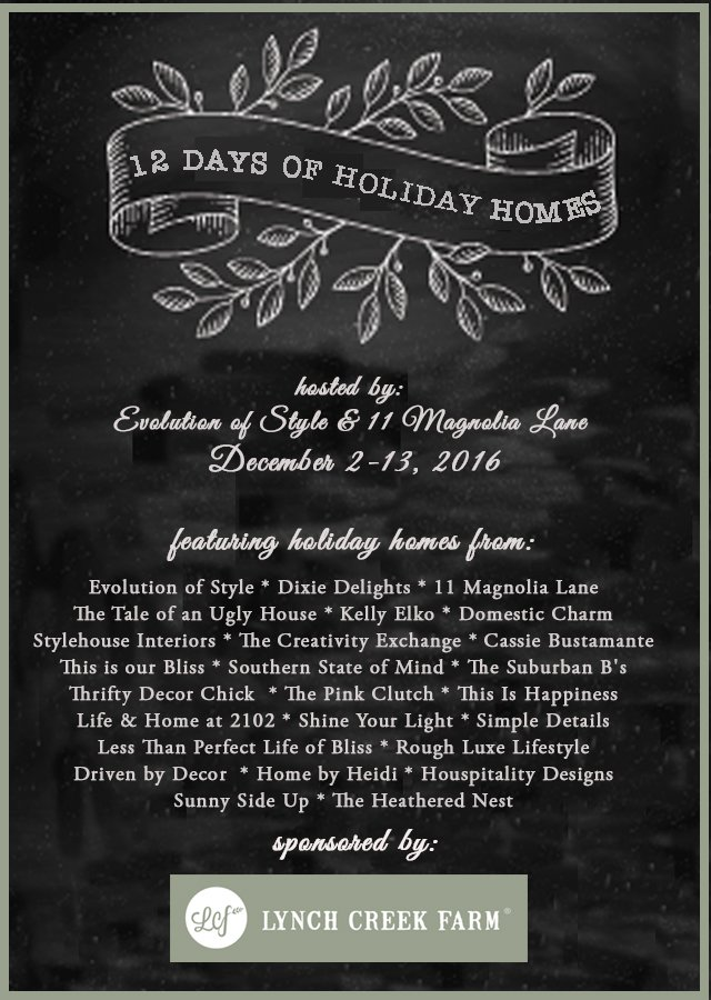2016 12 Days of Holiday Home Tour Schedule