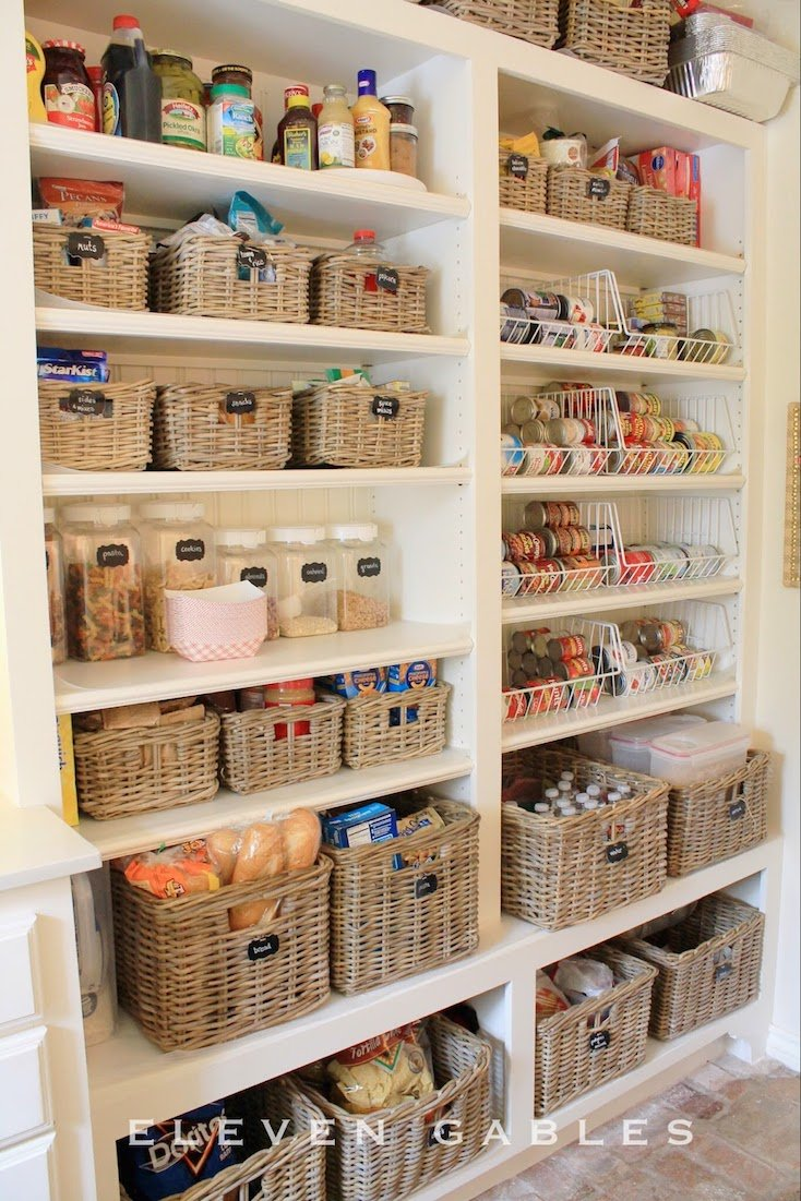 Basket Pantry Organization