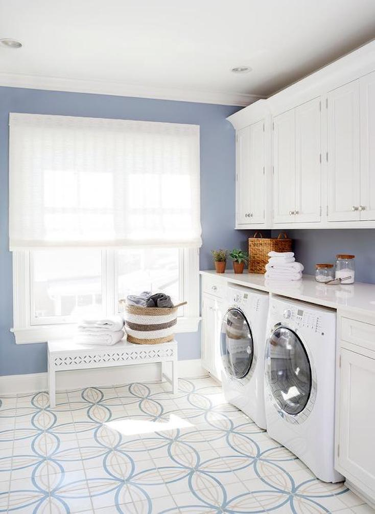 Blue and White Laundry