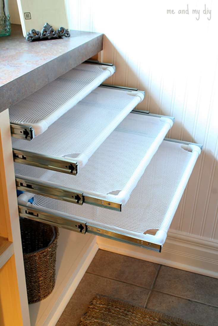 Built-In Drying Racks