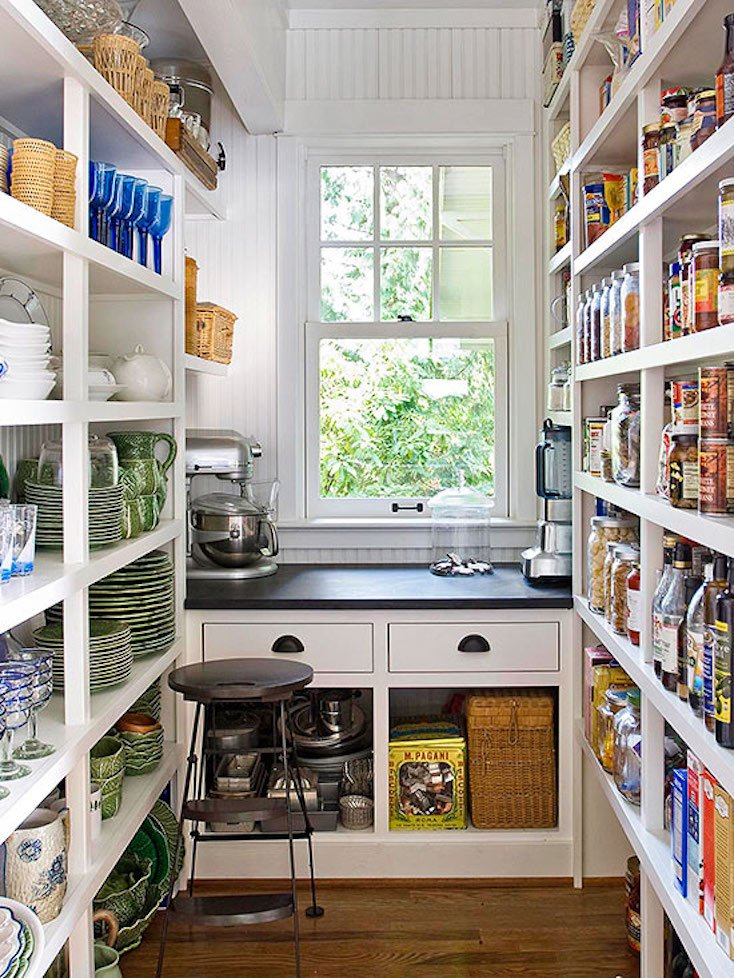Open Pantry Shelving