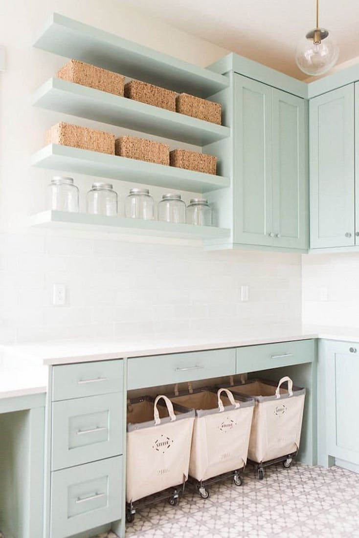 Open Shelving Laundry 2