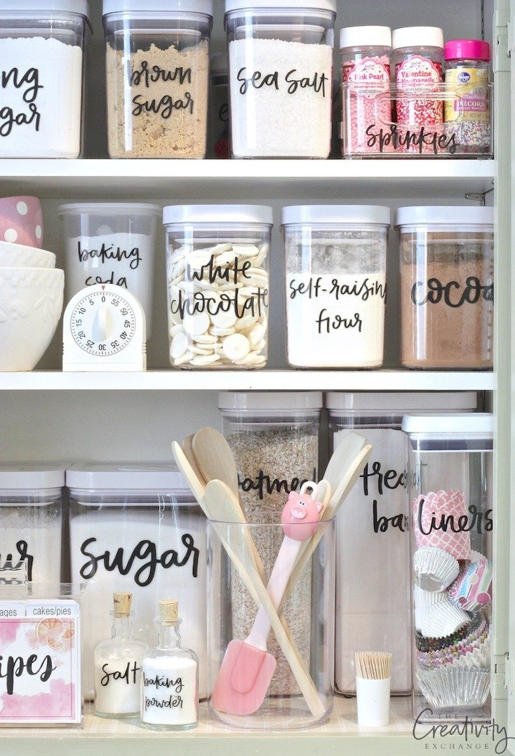 Printable Hand-Lettered Pantry Labels