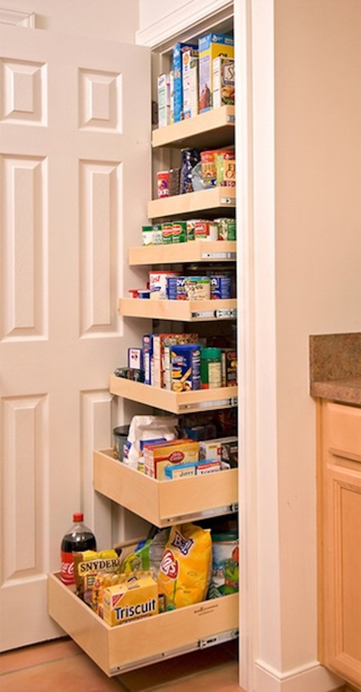 Creative pantry organizing ideas and solutions for Placard cuisine trop profond