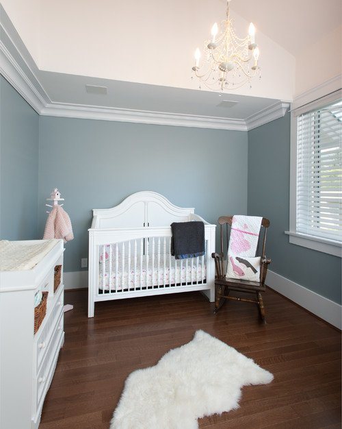Wall Color is Yarmouth Blue via H2 Designs