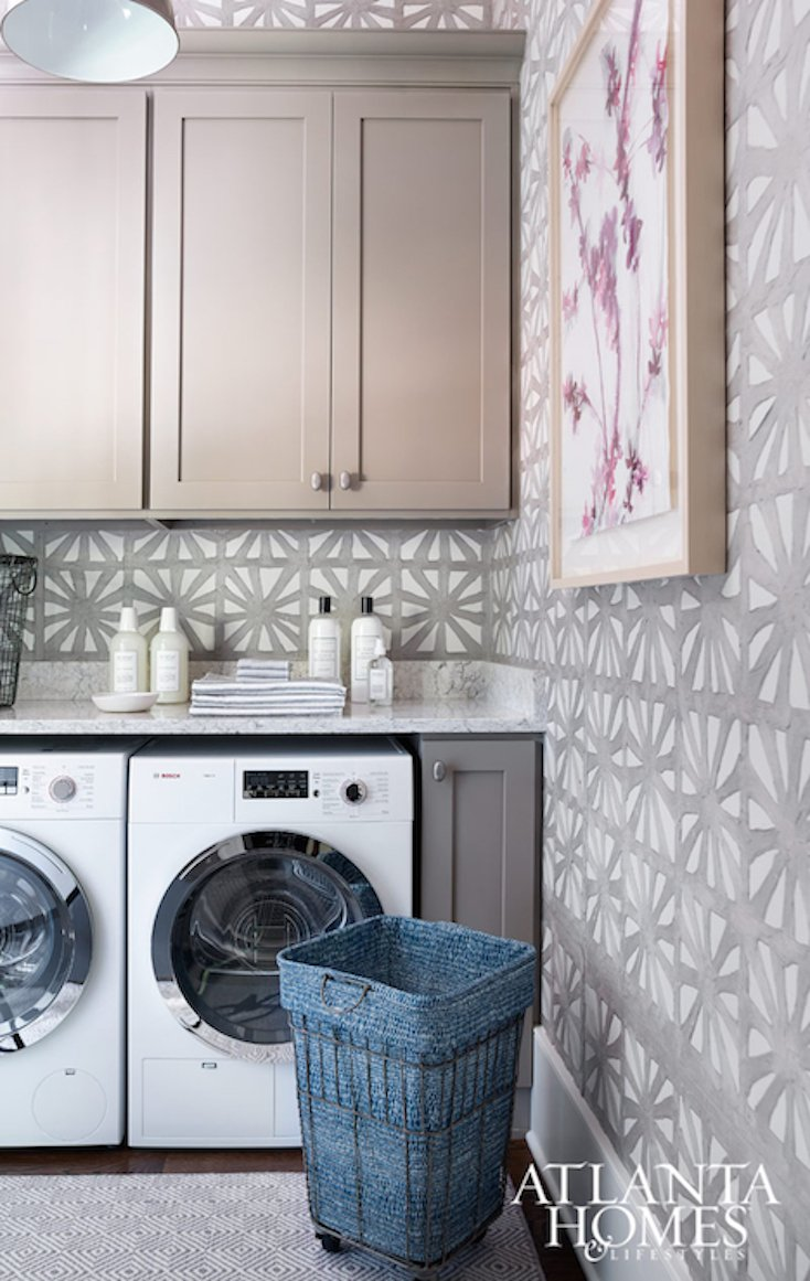 Wallpapered Laundry