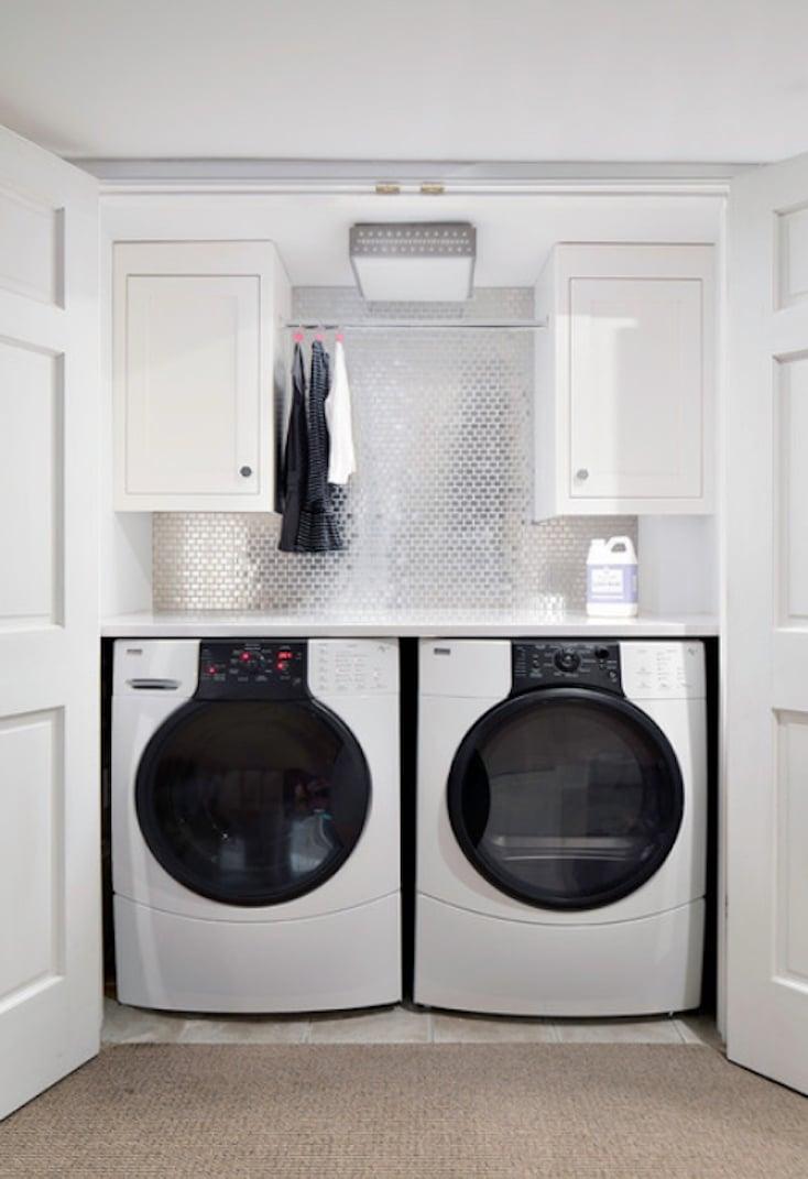 White Laundry Closet