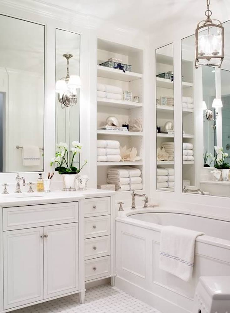 wonderful bathroom wall storage ideas | Creative Ways to Incorporate Built-In Cabinetry