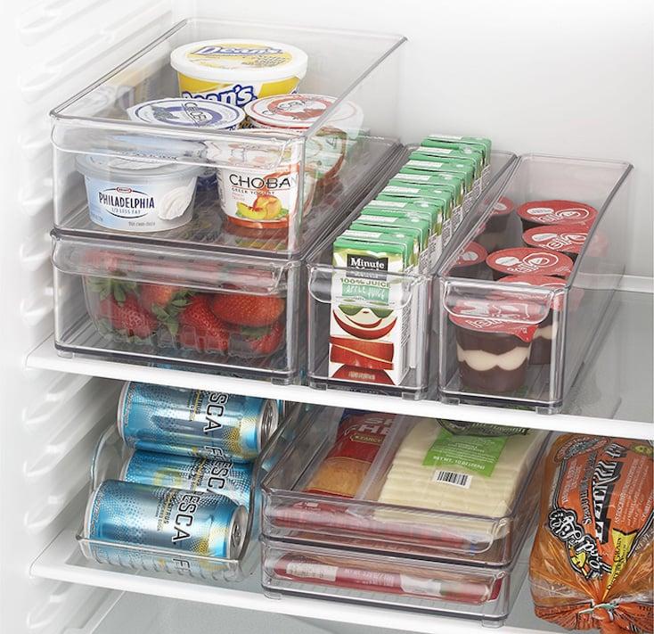 Clear Refrigerator Bins