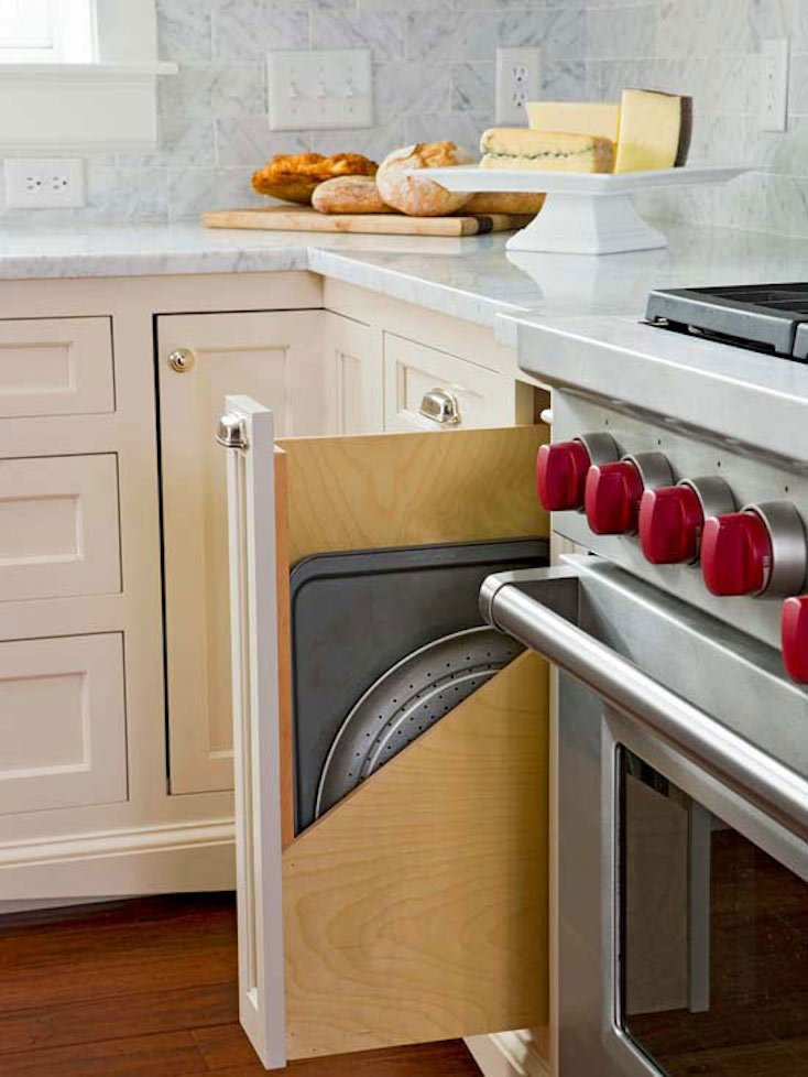 Creative kitchen organizing solutions for Narrow kitchen cabinet