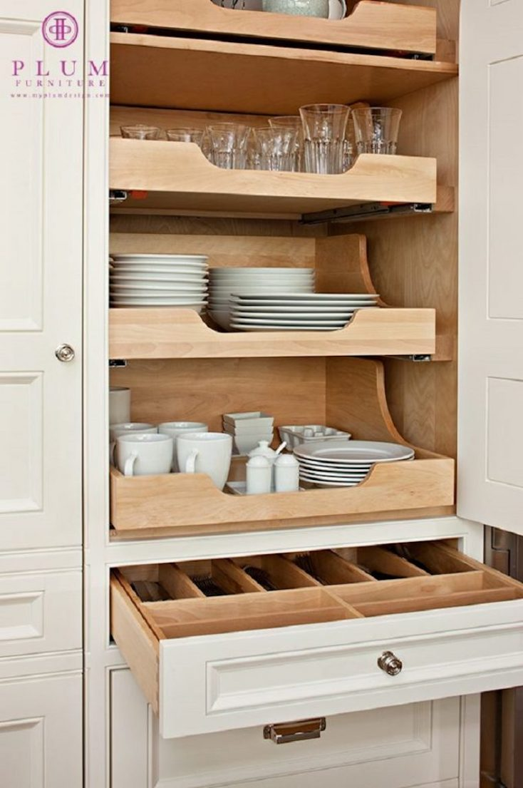 Creative kitchen organizing solutions for Pull out drawers for kitchen cabinets