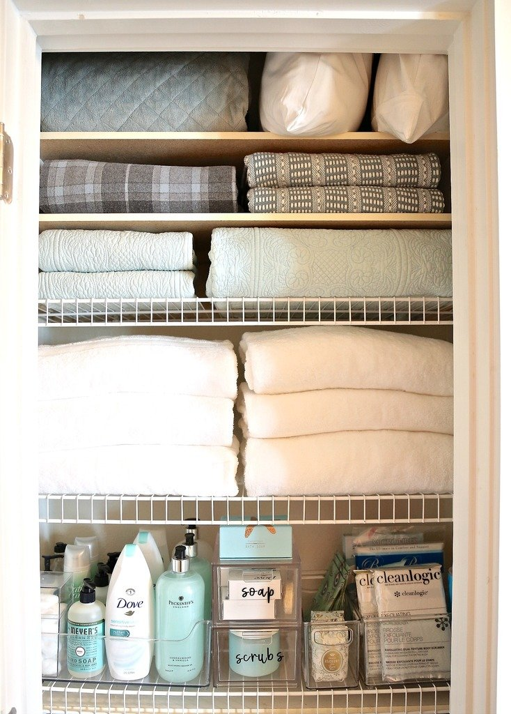 Tips for organizing a linen closet