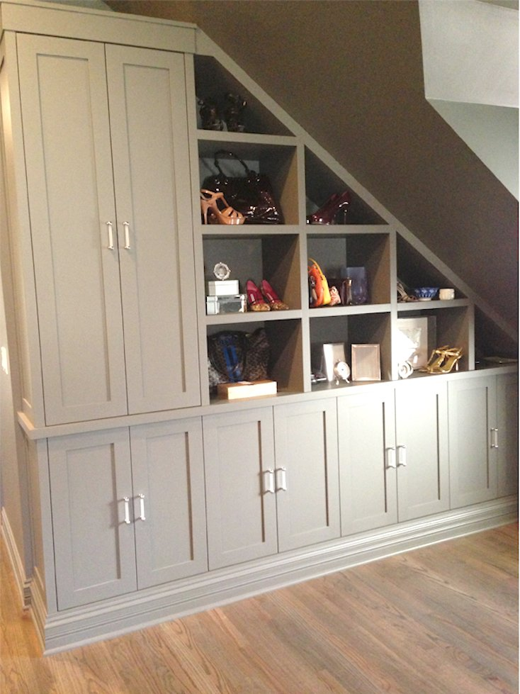 Under-Stair Built-Ins Gray
