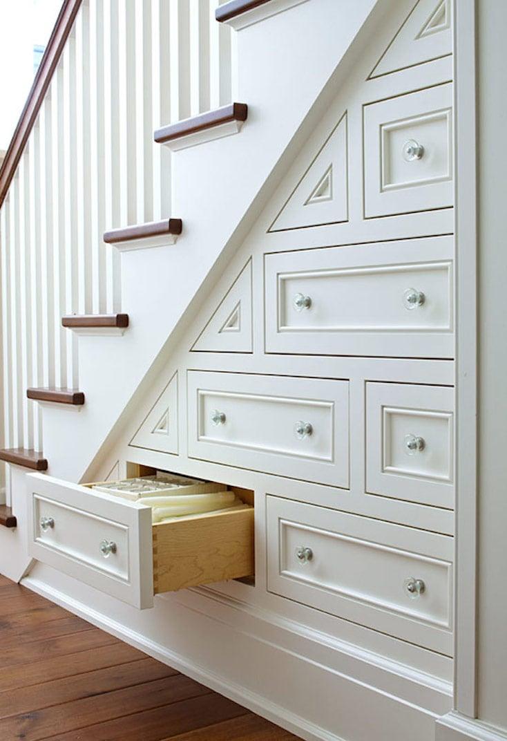 Under-Stair Built-Ins White