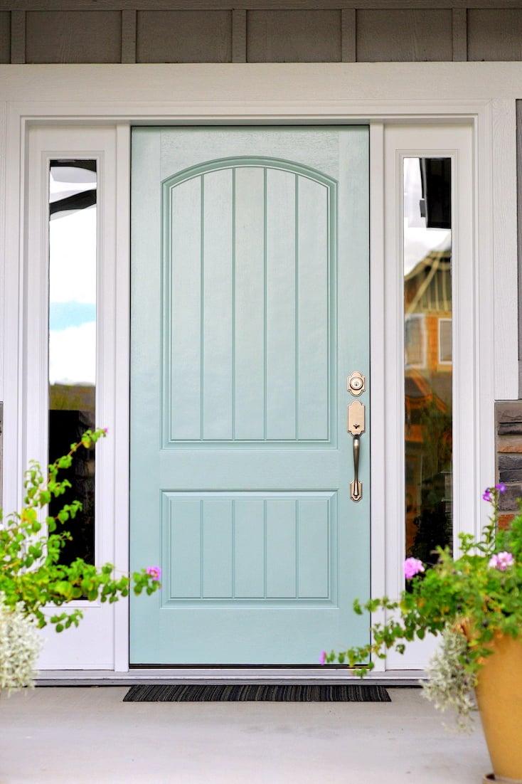 Popular front door paint colors for Exterior door colors benjamin moore