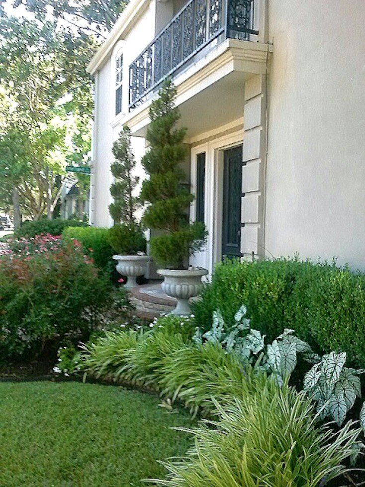 Junipers, Roses, Liriope, Caladiums, Boxwoods Save. via Simple Landscaping  Ideas