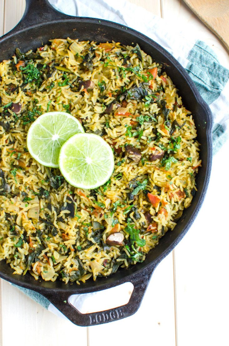 One-Pot Spinach Rice