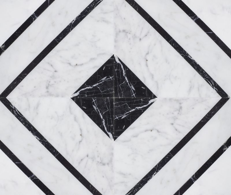 Rexford Marble Mosaic Tile. Jeff Lewis Tile Collection at Home Depot